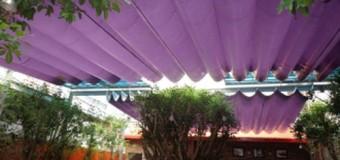 Lắp đặt mái bạt xếp giá rẻ tại Tp HCM