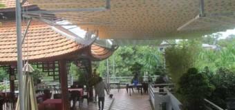 Ứng dụng của mái xếp dành cho quán cafe