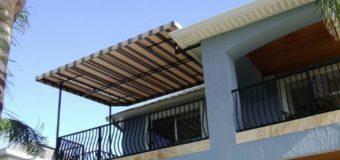 Làm mái che sân thượng – Giá mái che xếp di động sân thượng bao nhiêu tiền 1m2
