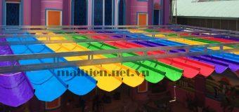 Bảng giá mái bạt xếp lượn sóng, mái xếp di động mới nhất tại Hà Nội, HCM
